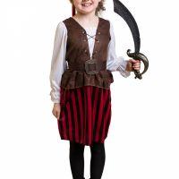 Bild på Barndräkt  Randig piratklänning L