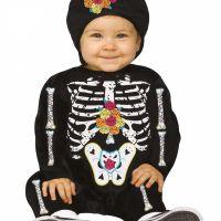 Bild på Barndräkt  Skelett med rosor 6-12 månader