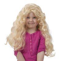 Bild på Barnperuk lång lockig blond