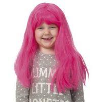 Bild på Barnperuk rosa långt