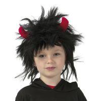 Bild på Barnperuk svart med horn