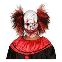 Bild på Blodig Clownmask med Hår - One size