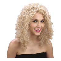 Bild på Blond Lockig Peruk - One size