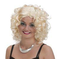 Bild på Blond lockig peruk