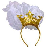 Bild på Bride To Be Guld Krona med Slöja