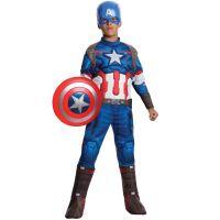 Bild på Captain America Dräkt Barn Deluxe (Small)