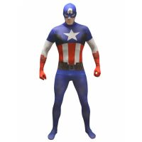 Bild på Captain America  Morphsuit Maskeraddräkt (L)