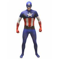 Bild på Captain America  Morphsuit Maskeraddräkt XXL