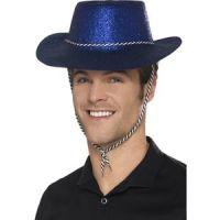 Bild på Cowboy Glitterhat Blå