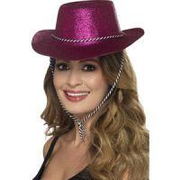 Bild på Cowboy Glitterhat Rosa