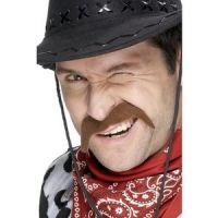 Bild på Cowboy mustasch brun