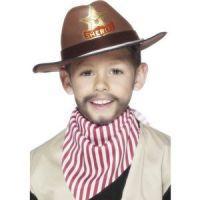 Bild på Cowboyhatt brun barn