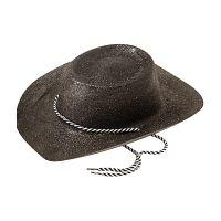 Bild på Cowboyhatt Svart med Glitter - One size