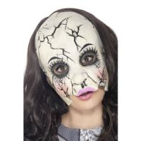 Bild på Damaged Doll Mask Multi-Coloured Chinless Latex
