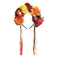 Bild på Day of the Dead Diadem med Blommor - One size