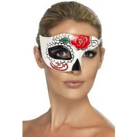 Bild på Day of the Dead Halv Ansiktsmask