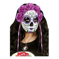 Bild på Day of the Dead Mask Lila - One size