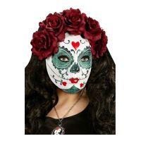 Bild på Day of the Dead Mask Vinröd - One size