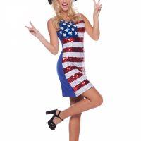 Bild på Dräkt  USA-klänning med paljetter S/M