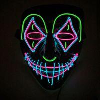 Bild på EL Wire Joker LED Mask - One size
