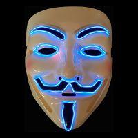 Bild på EL Wire V For Vendetta LED Mask - Blå