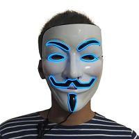 Bild på EL Wire V For Vendetta LED Mask - Grön