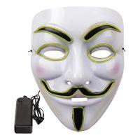 Bild på EL Wire V For Vendetta LED Mask - Neongrön