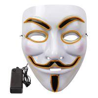 Bild på EL Wire V For Vendetta LED Mask - Röd