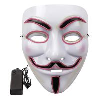 Bild på EL Wire V For Vendetta LED Mask - Turkos
