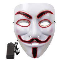 Bild på EL Wire V For Vendetta LED Mask - Vit