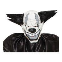 Bild på Elak Clown Svart/Vit Mask med Hår - One size