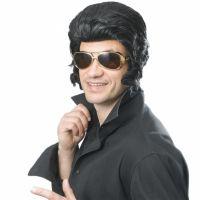 Bild på Elvis peruk med Polisonger