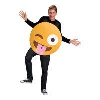 Bild på Emoji Tongue Out Maskeraddräkt - Medium