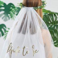 Bild på Eukalyptus Bride To Be Krona med Slöja