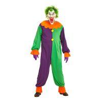 Bild på Evil Joker Clown Maskeraddräkt - Small