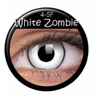 Bild på Färgade linser crazy zombie-vit