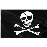 Bild på Flagga Dödskalle 1,5m