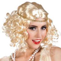 Bild på Flapper 20-tals Peruk Blond med Hårband