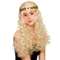 Bild på Flower Power Hippie Peruk Blond