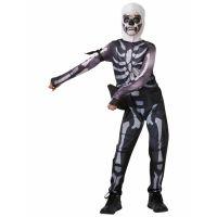 Bild på Fortnite Skull Trooper Maskeraddräkt Barn (Small (9-10 år))