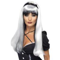 Bild på Förtrollande peruk - Silver över svart