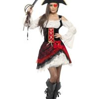 Bild på Glamorös Pirat Maskeraddräkt Large