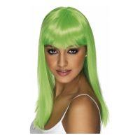 Bild på Glamourama Neongrön Peruk - One size