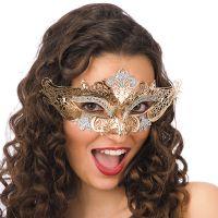 Bild på Guld Ögonmask i Metall med Glitter