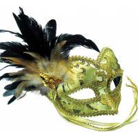 Bild på Guldfärgad Maskeradbal Mask - One size