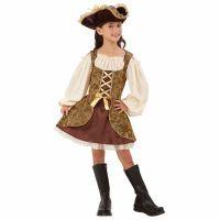 Bild på Gyllene Piratklänning Barn Maskeraddräkt (Small)