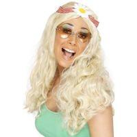 Bild på Häftig hippieperuk, blond