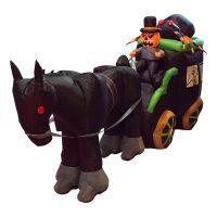 Bild på Halloweenpumpa med Häst och Vagn Uppblåsbar - 250 cm