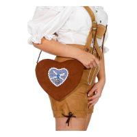 Bild på Handväska Tyroler Blått Hjärta
