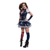 Bild på Harley Quinn Arkham Maskeraddräkt - X-Small